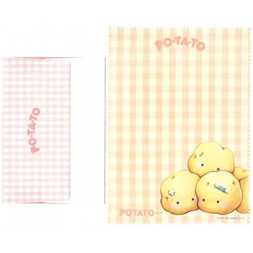 Ano 1984. Conjunto de Papel de Carta Potato Antigo (Vintage) Sanrio