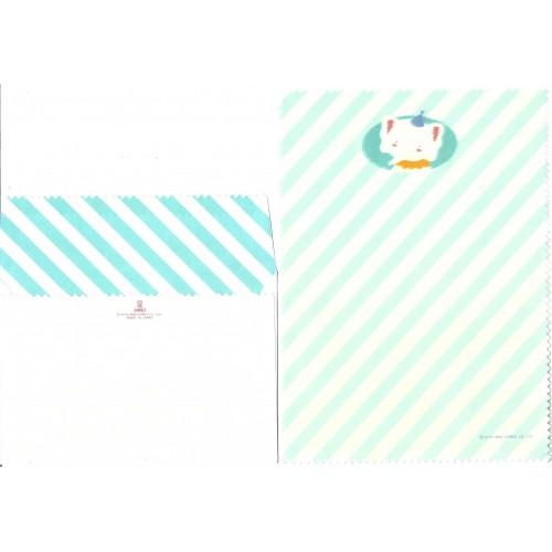 Ano 1983. Conjunto de Papel de Carta Elephant Blue Vintage Sanrio