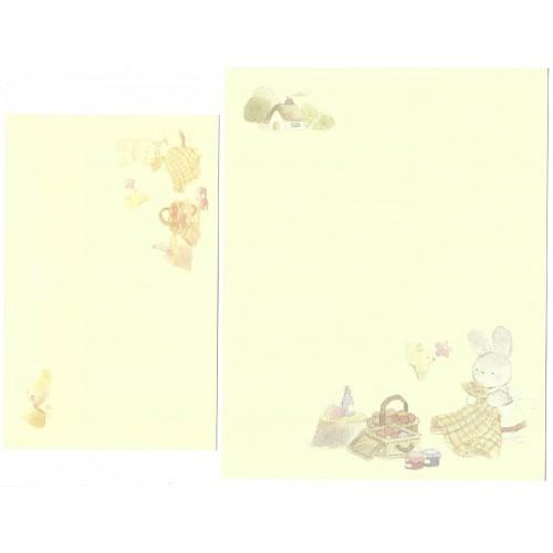 Conjunto de Papel de Carta Antigo (Vintage) Bunny Warabe KIMIKA