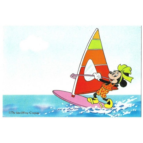 Postal Antigo Disney Minnie Windsurf - Soft Paper