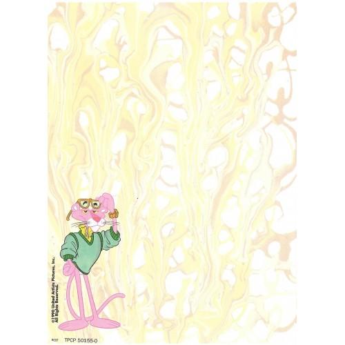 Papel de Carta Antigo Pantera Cor-de-Rosa 1990 BEST CARDS