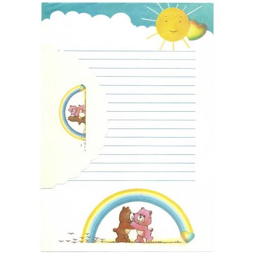 Conjunto de Papel de Carta ANTIGO Ursinhos Carinhosos