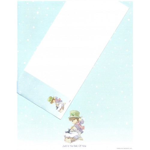 Conjunto de Papel de Carta IMPORTADO A4 Precious Moments Blue