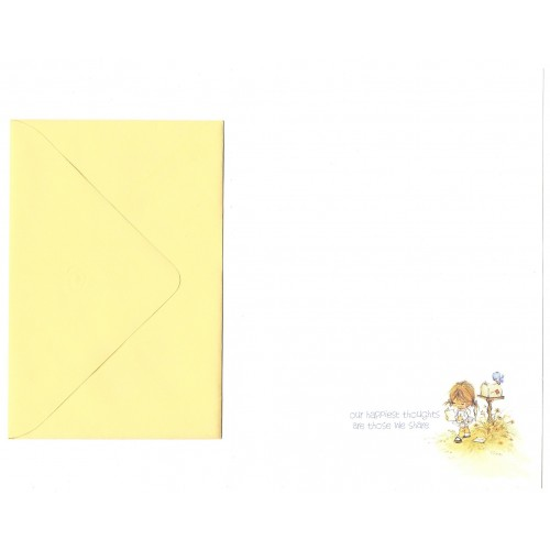 Conjunto de Papel de Carta Antigo Importado Elena Happy Thoughts A.G.