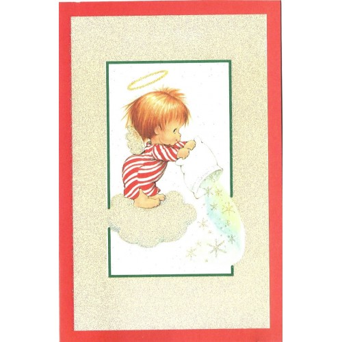 Notecard Antigo Importado Christmas 2 Ruth Morehead A.G.