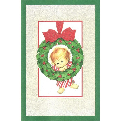 Notecard Antigo Importado Christmas 4 Ruth Morehead A.G.