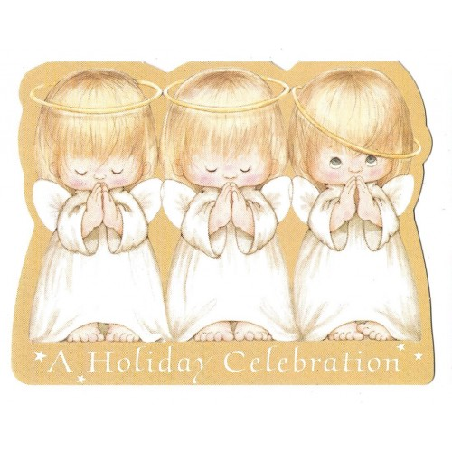 Notecard Antigo Importado HOLIDAY Ruth Morehead Hallmark