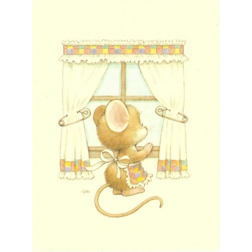 Notecard Antigo Importado Ruth Morehead Mouse 2 Current