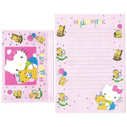 Conjunto de Papel de Carta Antigo Hello Kitty & Bear