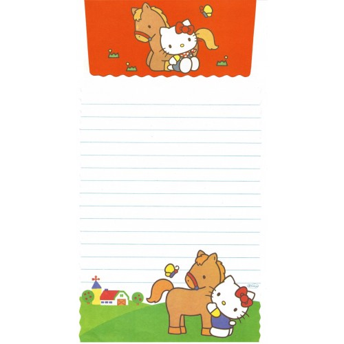 Conjunto de Papel de Carta Antigo Hello Kitty Farm