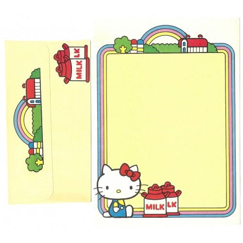 Conjunto de Papel de Carta Antigo Hello Kitty Milk