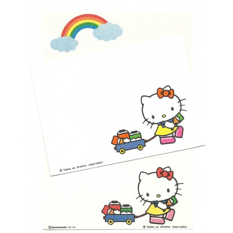 Conjunto de Papel de Carta Antigo Hello Kitty Painting