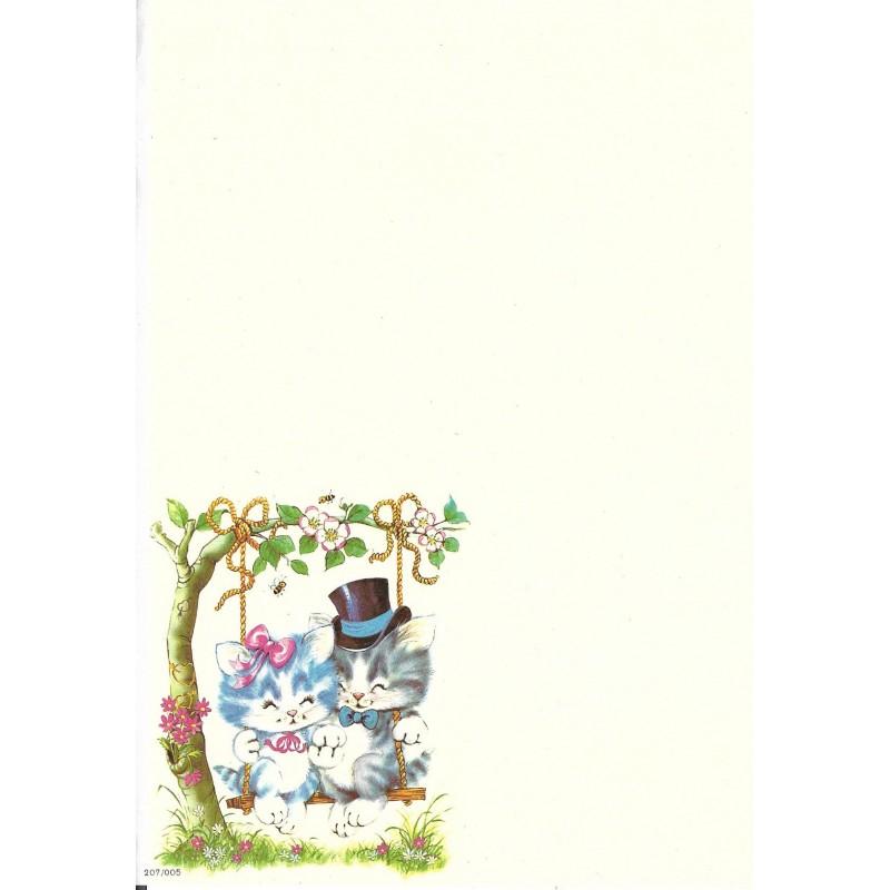 Papel de Carta AVULSO Antigo Coleção SPACK Só Amor 01