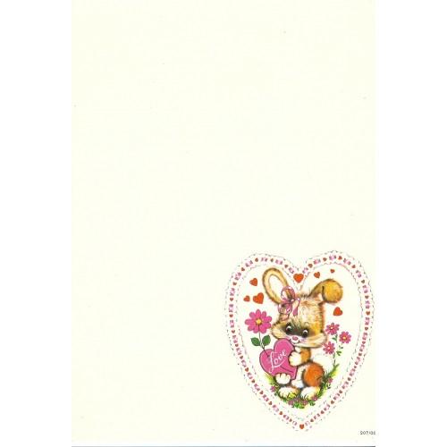 Papel de Carta AVULSO Antigo Coleção SPACK Só Amor 02
