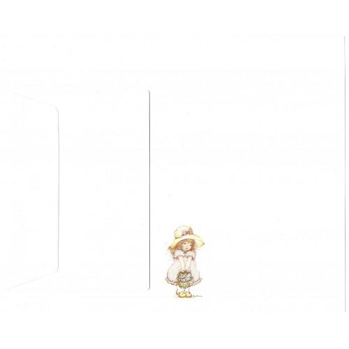 Conjunto de Papel de Carta Antigo Importado Cat - Kim Tania