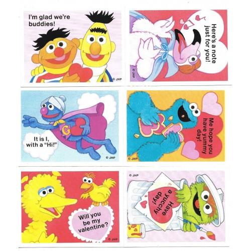 Kit 6 Mini-Cartões de Mensagem Valentines Importado Sesame Street