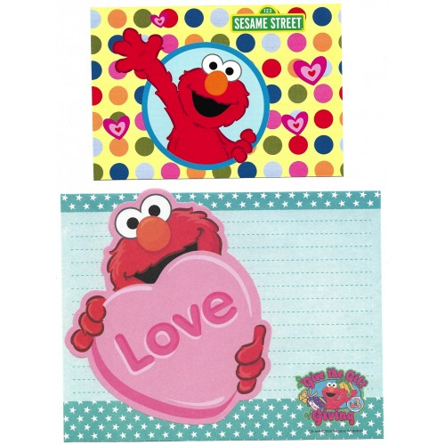 Ano 2009. Conjunto de Papel de Carta Sesame Street LOVE