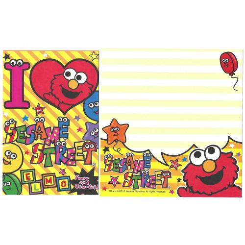 Ano 2012. Kit 4 Conjuntos de Papel de Carta Sesame Street COLORFUL