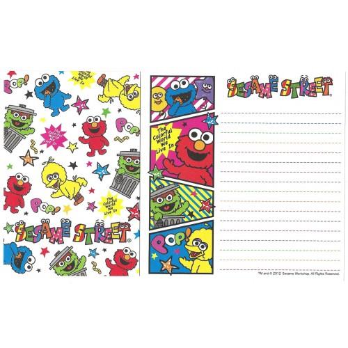Ano 2012. Kit 4 Conjuntos de Papel de Carta Sesame Street POP