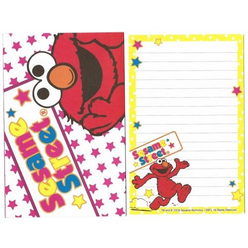 Ano 2008. Conjunto de Papel de Carta Pequeno Sesame Street CAM