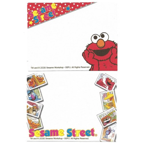 Ano 2008. Kit 2 MEMOS Sesame Street CAM