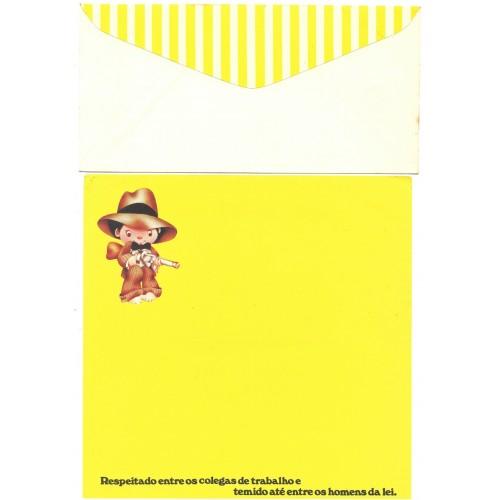 Conjunto de Papel de Carta Coleção Os Intocáveis Bandidinho CAM