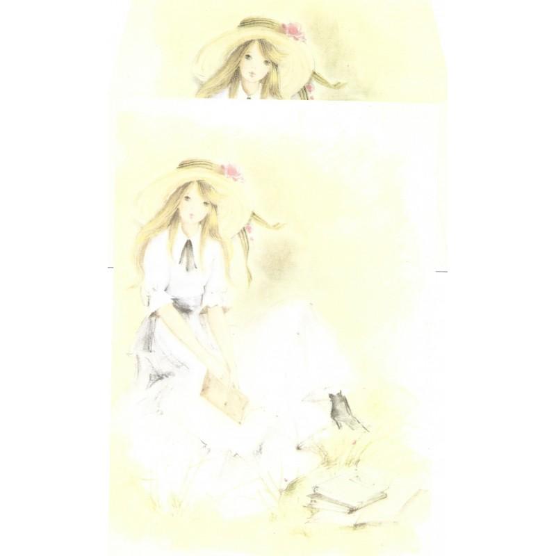 Conjunto de Papel de Carta Antigo AMBROSIANA JÚLIA - 07