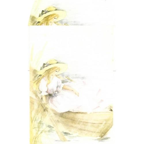 Conjunto de Papel de Carta Antigo AMBROSIANA JÚLIA - 08
