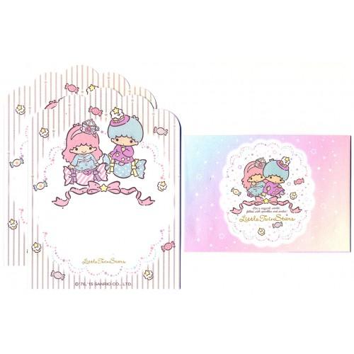 Ano 2015. Conjunto de MINI-Papel de Carta Little Twin Stars Candy Sanrio