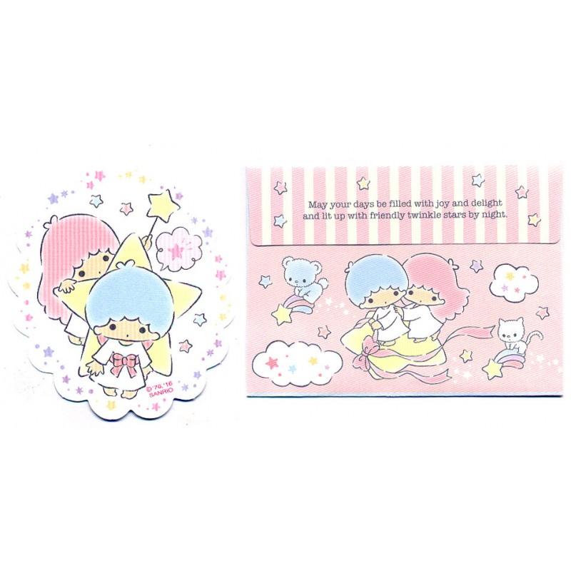Ano 2016. Conjunto de Mini Papel de Carta Little Twin Stars Sanrio