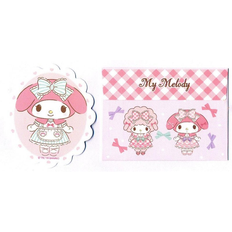 Ano 2016. Conjunto de Mini Papel de Carta My Melody Sanrio