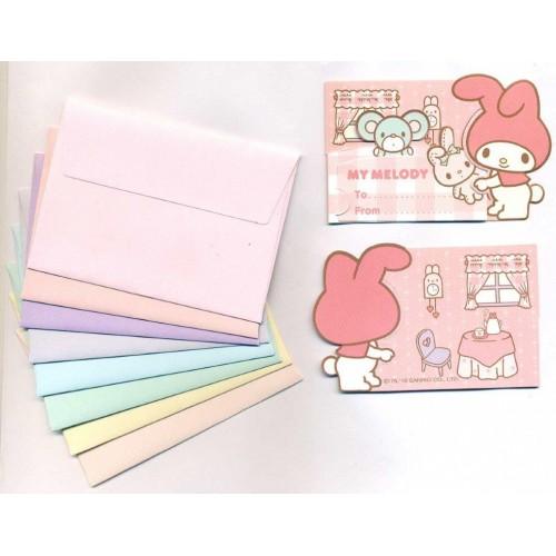 Ano 2010. Kit Mini-Cartão de Mensagem My Melody Sanrio