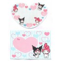 Ano 2005. Conjunto de Mini-Papel de Carta Kuromi Nanishite CAZ Sanrio