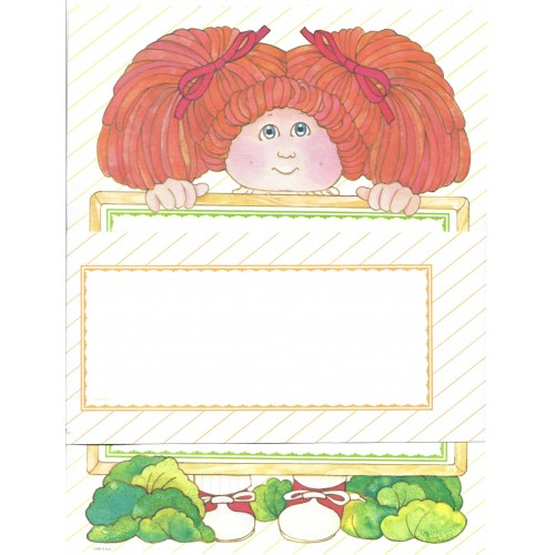 Ano 1984. Conjunto de Papel de Carta BIG Importado Cabbage Patch Kids1