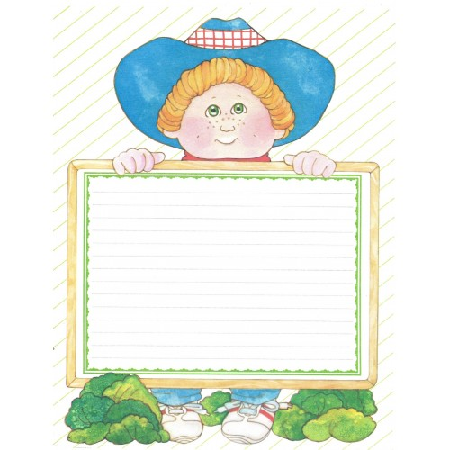 Ano 1984. Conjunto de Papel de Carta BIG Importado Cabbage Patch Kids2
