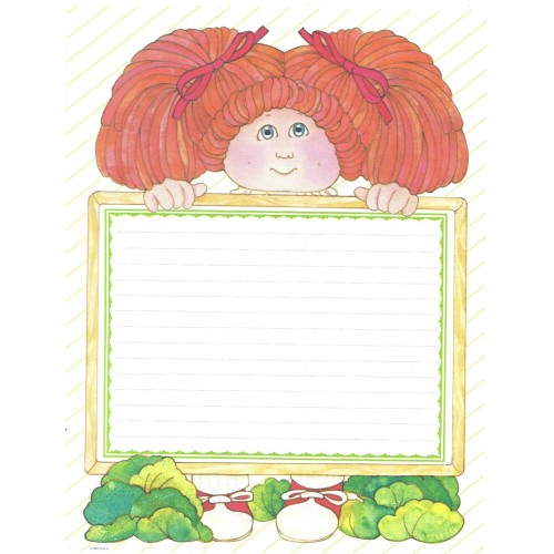 Ano 1984. Papel de Carta BIG Importado Cabbage Patch Kids1