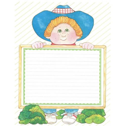 Ano 1984. Papel de Carta BIG Importado Cabbage Patch Kids2