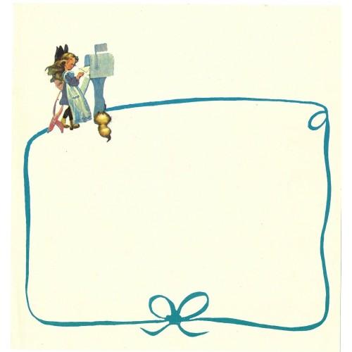 Papel de Carta Antigo Barbi Sargent BLUE3