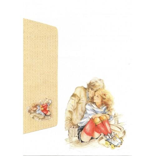 Conjunto de Papel de Carta Antigo Coleção Miss Sprite 02G C1