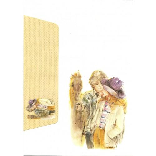 Conjunto de Papel de Carta Antigo Coleção Miss Sprite 03G C1