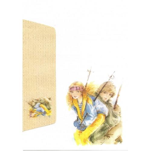 Conjunto de Papel de Carta Antigo Coleção Miss Sprite 04G C1