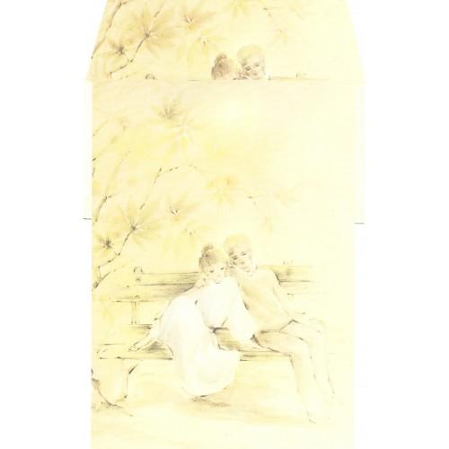 Conjunto de Papel de Carta Antigo AMBROSIANA CURTICÃO - 15