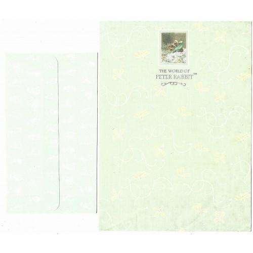 Conjunto de Papel de Carta ANTIGO Importado Peter Rabbit (CVD)
