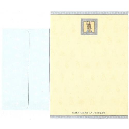 Conjunto de Papel de Carta ANTIGO Importado Peter Rabbit (CAZ)