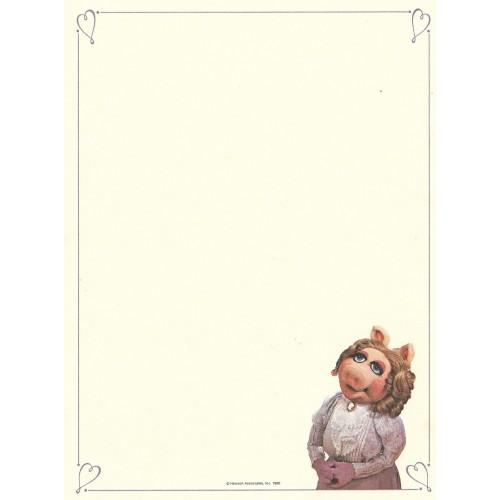 Ano 1980. Papel de Carta Antigo Importado Os Muppets Thinking of You