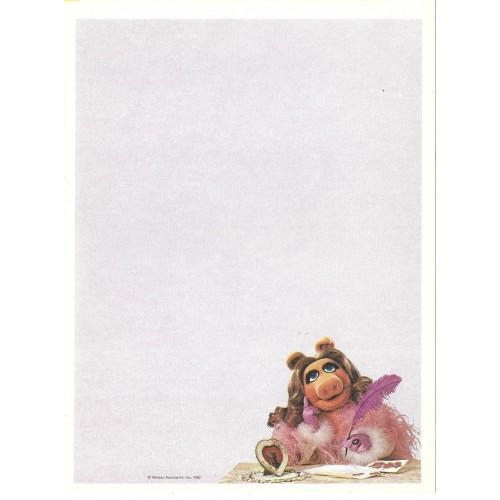 Ano 1980. Papel de Carta Antigo Importado Os Muppets Miss Piggy