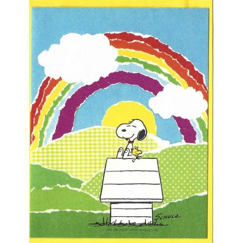 Notecard ANTIGO Snoopy Arco-Iris (CAM) Hallmark Crown