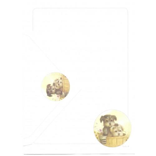 Conjunto de Papel de Carta Antigo Coleção Kartos - Pets2