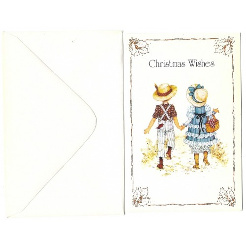 Notecard Antigo Importado Miss Petticoat Christmas Wishes