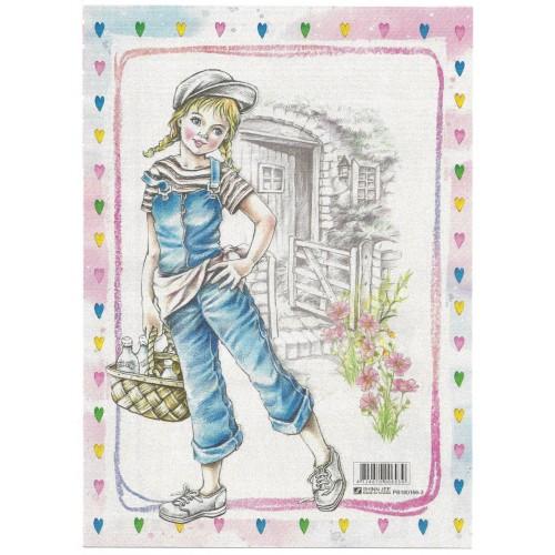 CAPA & Conjunto de Papel de Carta Shinn Jee Menininha PB180166-3